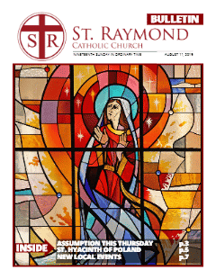 Bulletin – August 11, 2019 – 19th Sunday of Ordinary Time