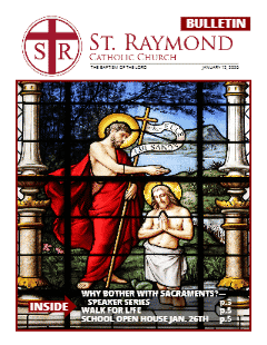 Bulletin – January 12, 2020 – The Baptism of the Lord